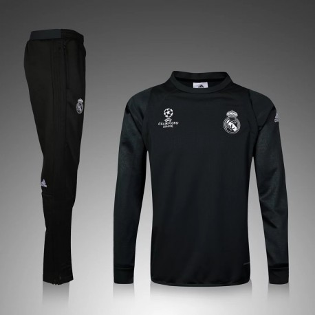 3925dc0d2d7 Survetement Real Madrid Champions League 2016-2017 Noire - Maillot ...