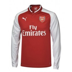 Maillot Arsenal 2017-2018 Domicile Manches Longues