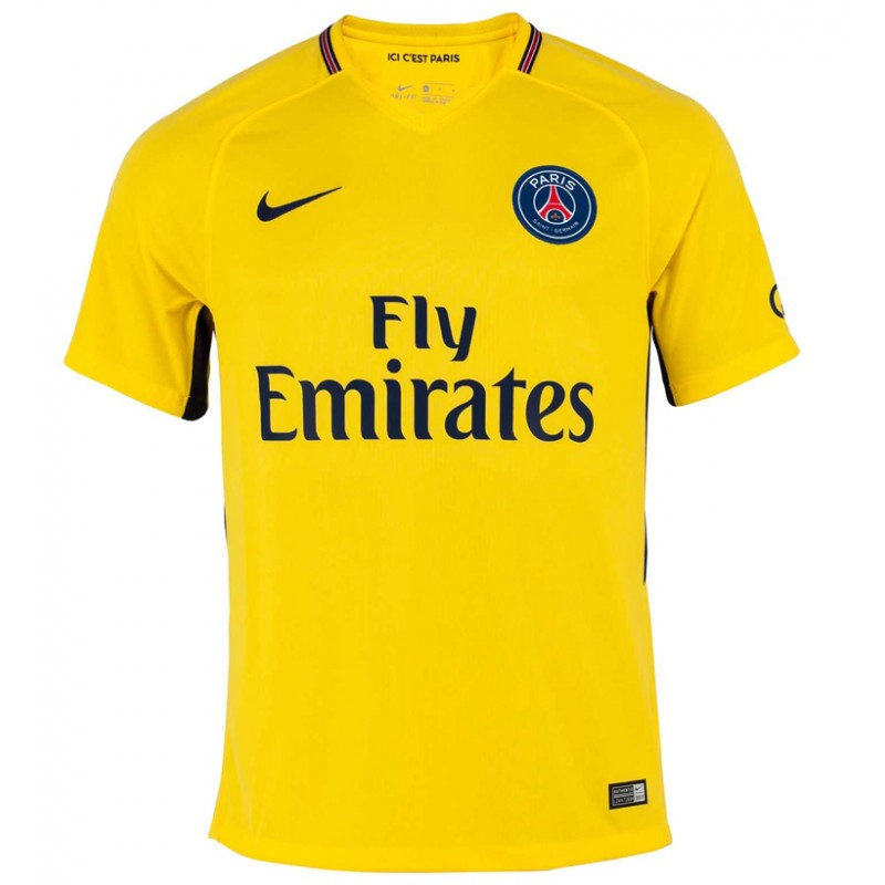 Maillot paris saint germain psg 2017 2018 pas cher ext rieur for Psg exterieur 2018