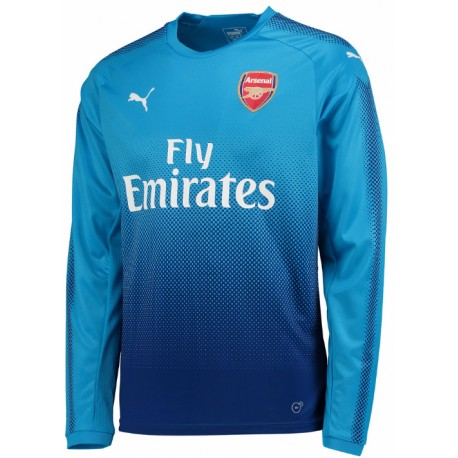 Maillot arsenal 2017 2018 ext rieur manches longues for Maillot arsenal exterieur 2017