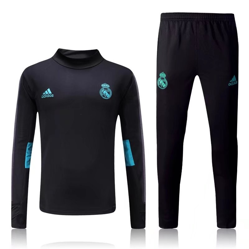 survetement real madrid 2017 2018 noire maillot de foot pas cher. Black Bedroom Furniture Sets. Home Design Ideas