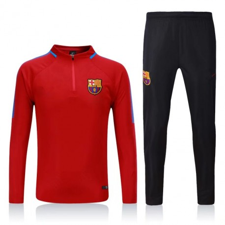 Survetement Barcelone 2017-2018 Rouge