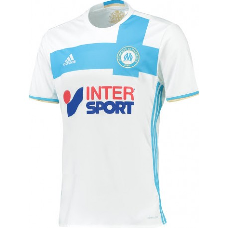 maillot olympique de marseille 2016 2017 pas cher domicile. Black Bedroom Furniture Sets. Home Design Ideas