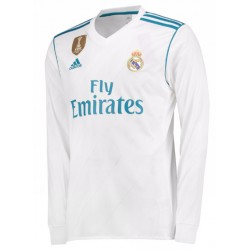 Maillot Real Madrid 2017-2018 Domicile Manches Longues