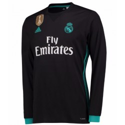 Maillot Real Madrid 2017-2018 Extérieur Manches Longues