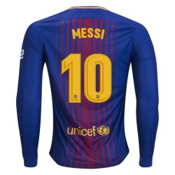 Maillot Messi Barcelone 2017-2018 Domicile Manches Longues