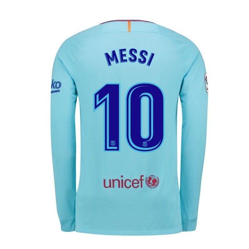 Maillot messi barcelone 2017 2018 ext rieur manches longues Maillot barcelone exterieur 2017