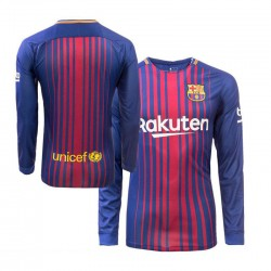 Maillot Barcelone 2017-2018 Domicile Manches Longues