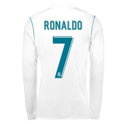 Maillot Ronaldo Real Madrid  2017-2018 Domicile Manches Longues