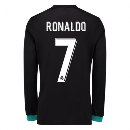 Maillot Ronaldo Real Madrid  2017-2018 Extérieur Manches Longues