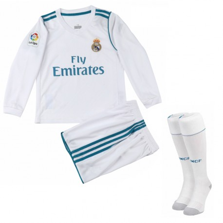Maillot Real Madrid Enfant 2017-2018 Domicile Manches Longues