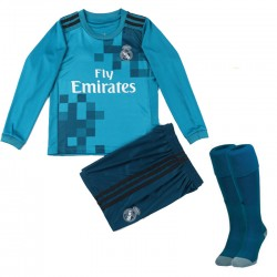 Maillot Real Madrid Enfant 2017-2018 Third Manches Longues
