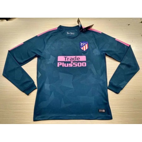 Maillot Atletico Madrid Pas Cher 2017 2018 Third Manches Longues