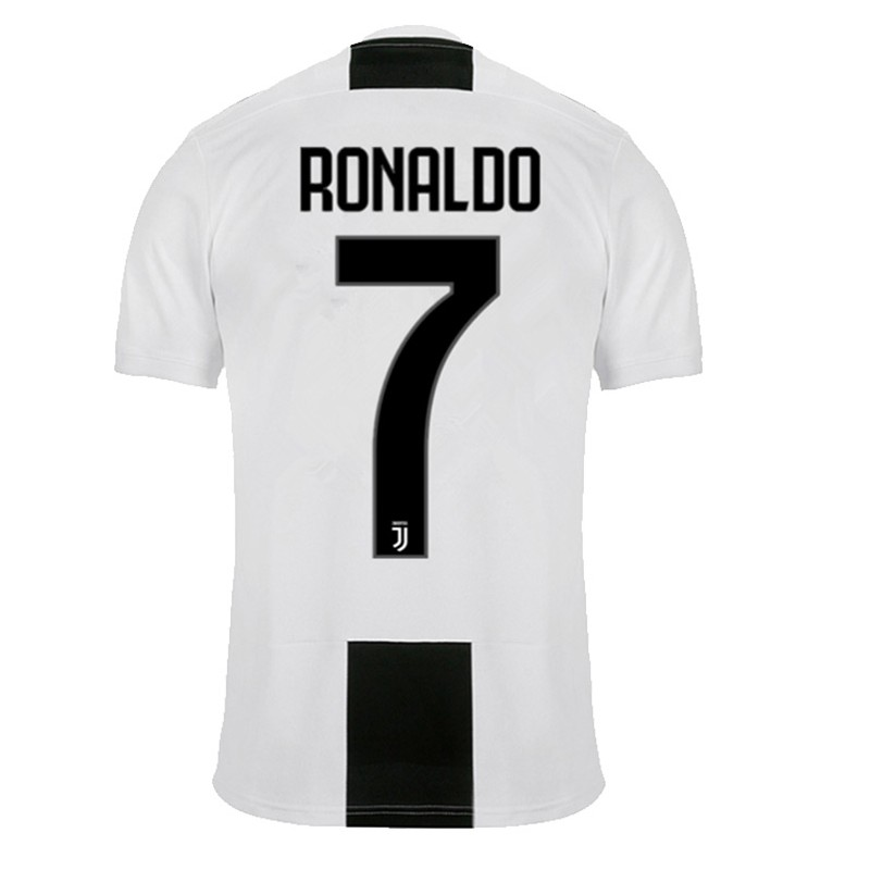 maillot ronaldo juventus pas cher 2018 2019 domicile. Black Bedroom Furniture Sets. Home Design Ideas