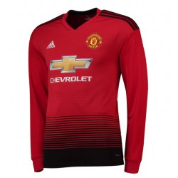 Maillot Manchester United 2018-2019 Domicile Manches Longues