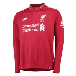 Maillot Liverpool  2018-2019 Domicile Manches Longues