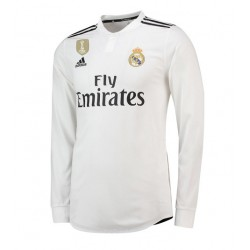 Maillot Real Madrid 2018-2019 Domicile Manches Longues