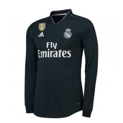 Maillot Real Madrid 2018-2019 Extérieur Manches Longues
