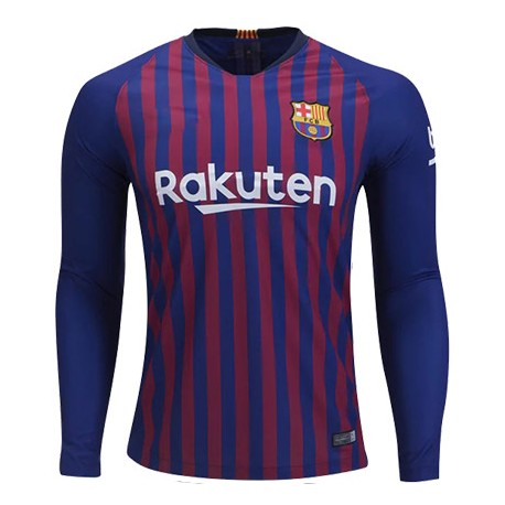Maillot Barcelone 2018-2019 Domicile Manches Longues