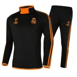 Survetement Real Madrid Ligue des Champions 2018-2019 Orange Noire