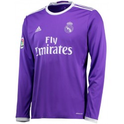 Maillot Real Madrid 2016-2017 Extérieur Manches Longues
