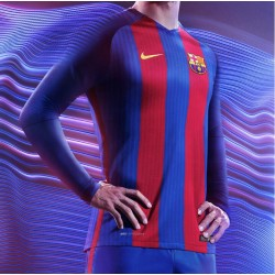 Maillot Barcelone 2016-2017 Domicile Manches Longues