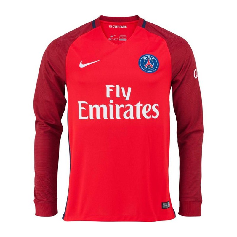 Maillot psg 2016 2017 ext rieur manches longues maillot for Maillot exterieur psg 2016