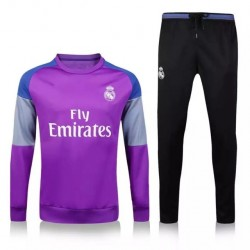 Survetement Real Madrid 2016-2017 Violet gris