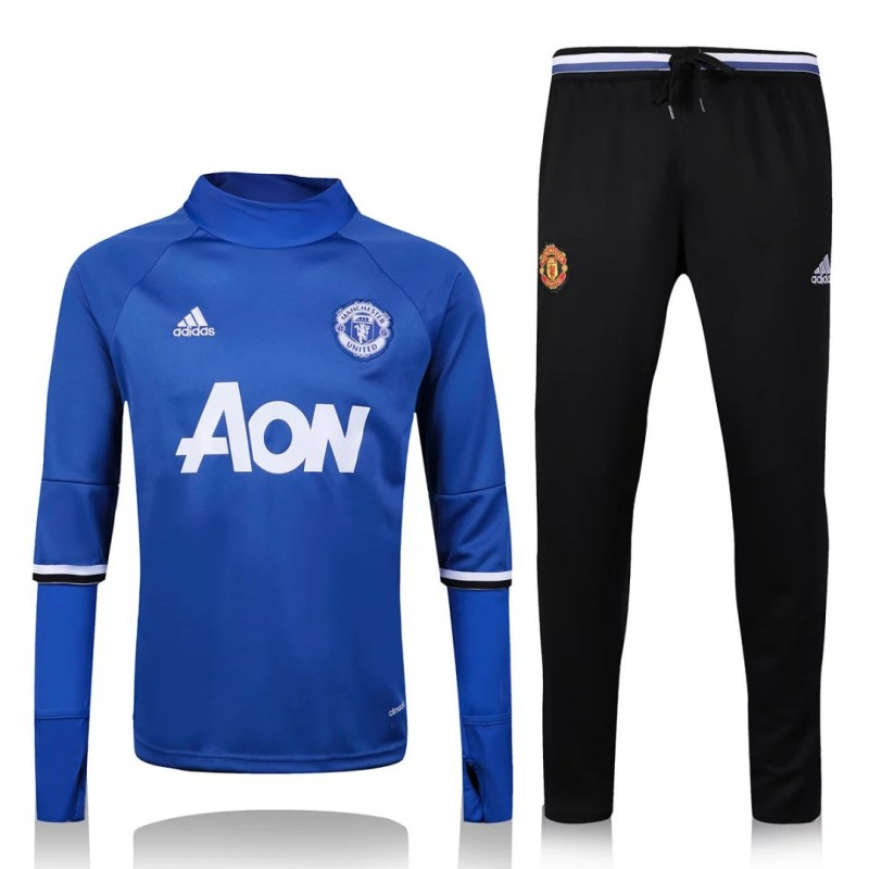 survetement manchester united 2016 2017 bleu maillot de foot pas cher. Black Bedroom Furniture Sets. Home Design Ideas
