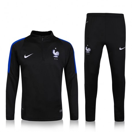 survetement equipe de france enfant 2016 2017 noire maillot de foot pas cher. Black Bedroom Furniture Sets. Home Design Ideas